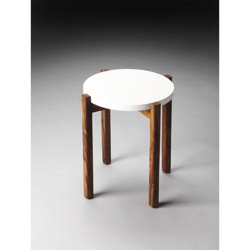 Del Mar White Side Table