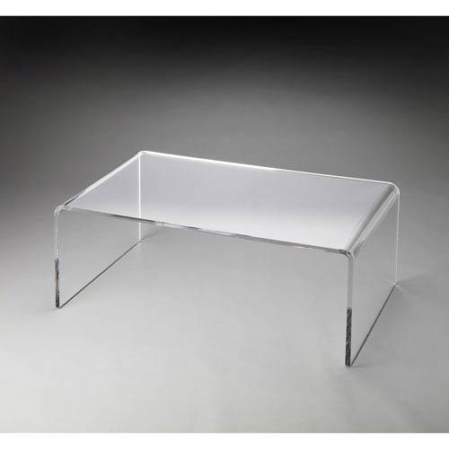 Crystal Clear Acrylic Cocktail Table