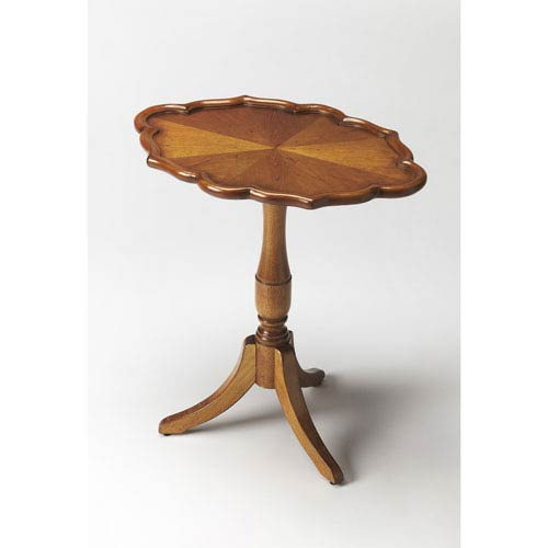 Higgins Olive Ash Burl Oval Pedestal Table