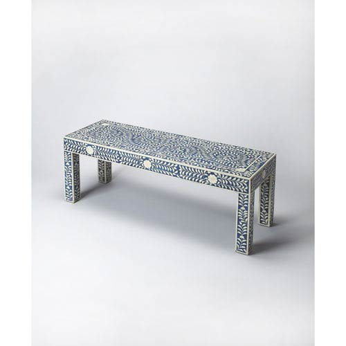 Blue Bone Inlay Bench