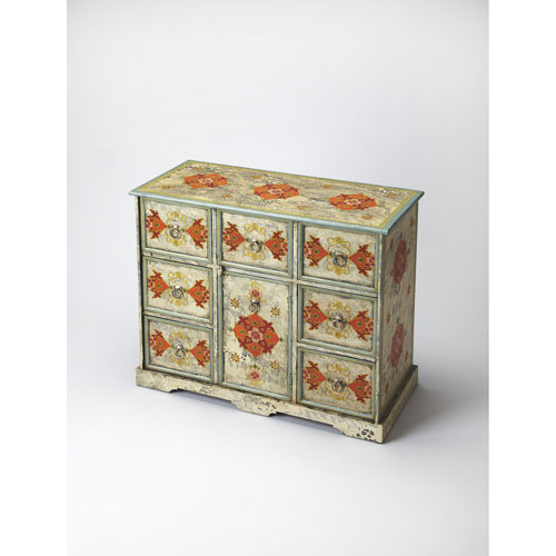 Multicolor Hand Painted Chest