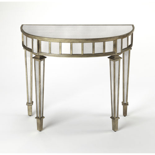 Butler Specialty Company Garbo Mirrored Demilune Console Table
