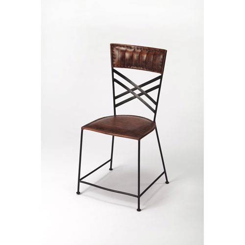 Butler Specialty Company Hackney Brown Leather Side Chair