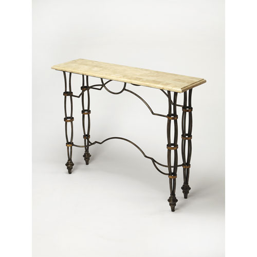 Butler Specialty Company Girona Fossil Stone Console Table