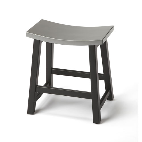 Dwyer Silver and Black Stool