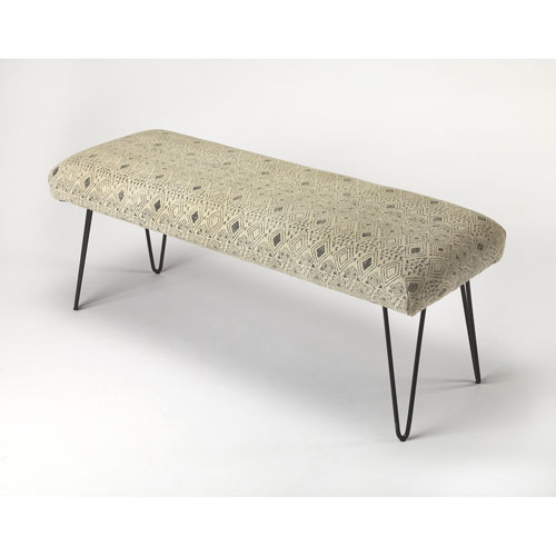 Ansel Cotton Upholstered Bench