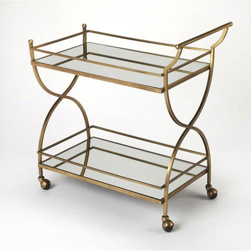 Graci Antique Gold Bar Cart