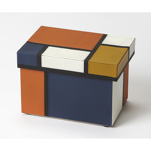Butler Mosaic Leather Storage Box