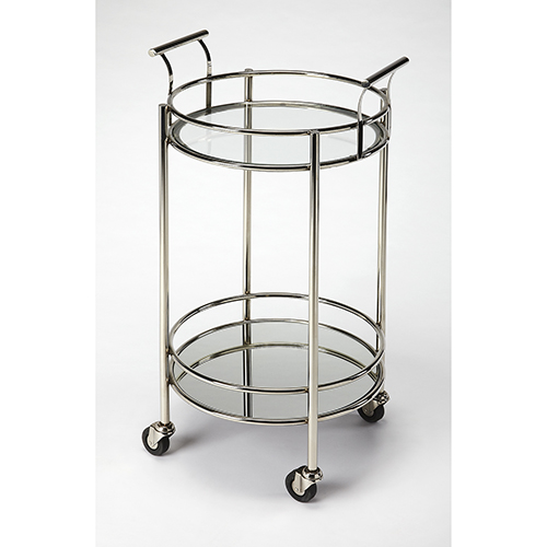 Butler Specialty Company Butler Kenner Metal and Glass Serving Cart