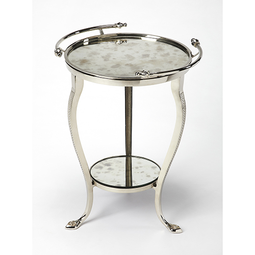 Butler Specialty Company Butler Viola Metal and Mirror End Table