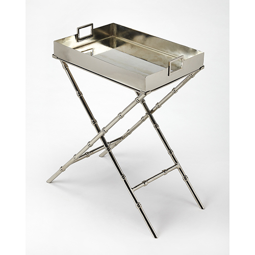 Butler Muriel Metal and Mirror Tray Table