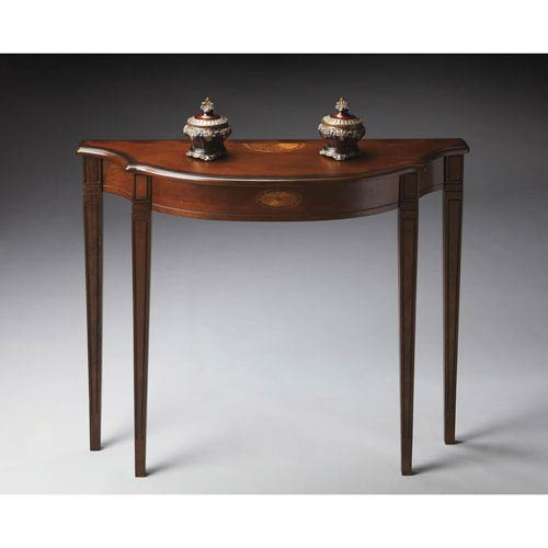 Plantation Cherry Maple and Walnut Console Table