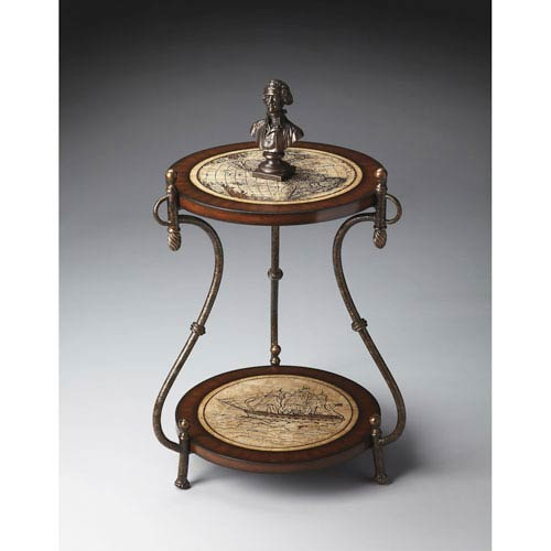 Butler Specialty Company Heritage Map Accent Table