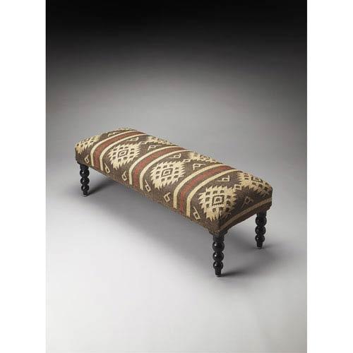 Navajo Jute Upholstered Bench