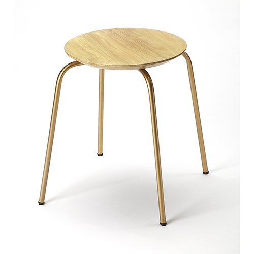 Raphael Wood and Metal Low Stool