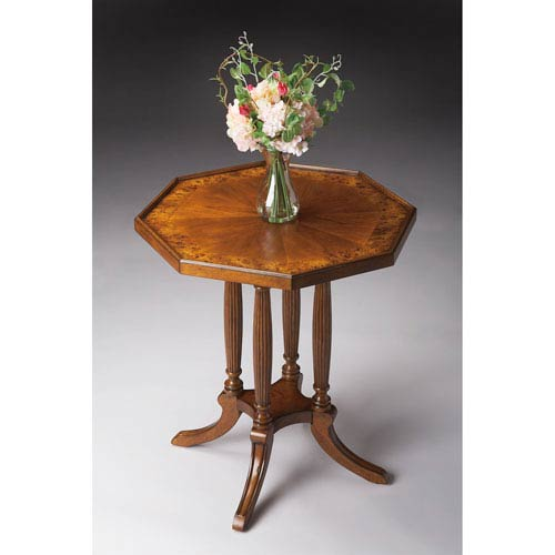 Butler Specialty Company Olive Ash Burl Octagon Accent Table