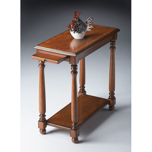 Olive Ash Burl Chairside Table