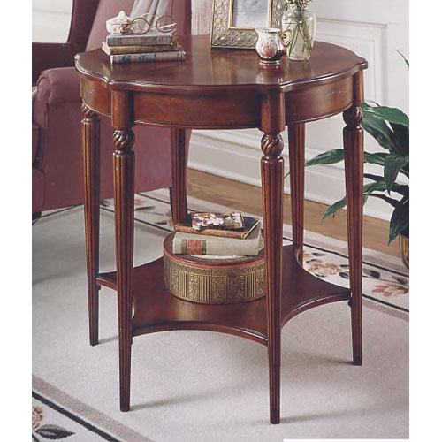 Plantation Cherry Lower Storage Shelf Accent Table