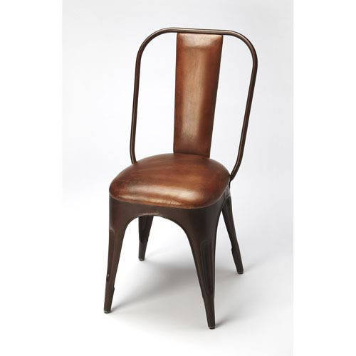 Riggins Iron and Leather Side Chair