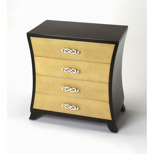 Saverio Ostrich Leather Drawer Chest