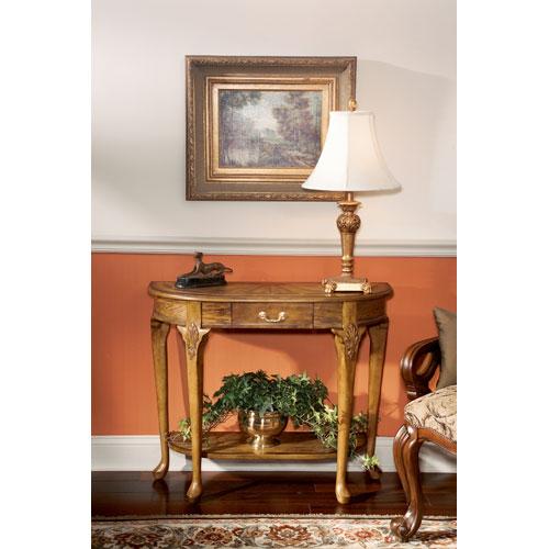 Masterpiece Vintage Oak Console Table