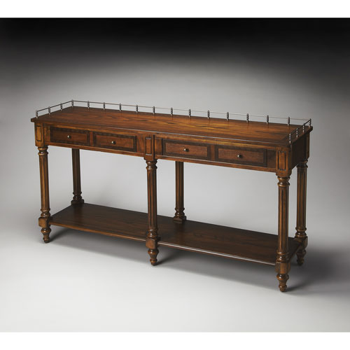 Butler Specialty Company Charleston Umber Sofa/Console Table