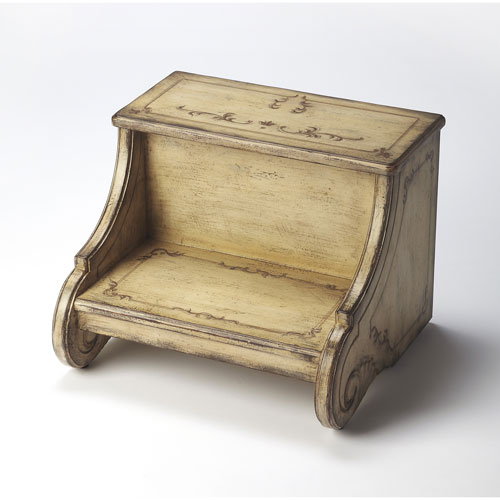 Sussex Gilted Ivory Step Stool