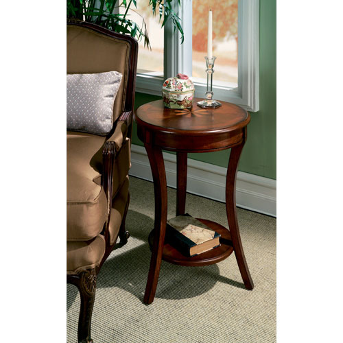 Plantation Cherry Small Round Accent Table