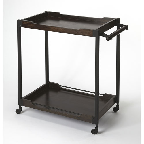 Fulton Industrial Bar Cart