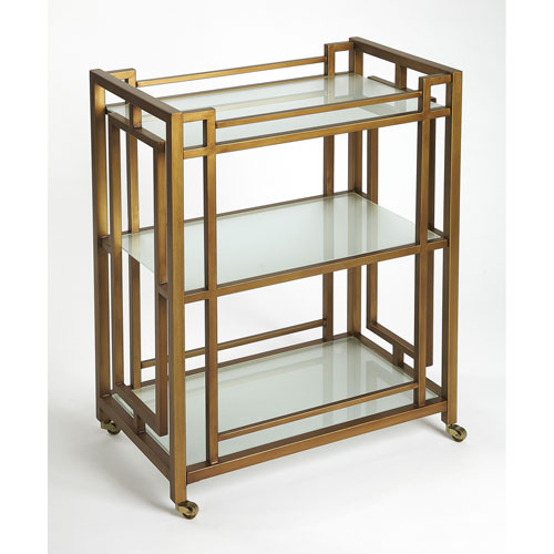 Linden Gold Bar Cart