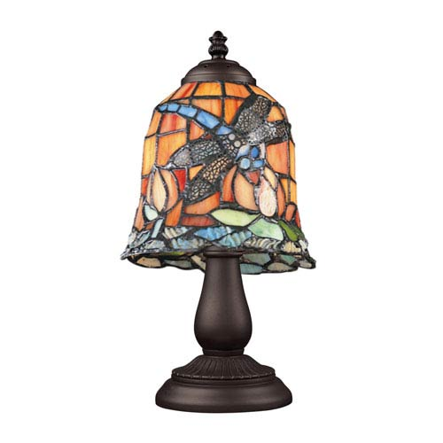 Elk Lighting Mix and Match Tiffany Bronze Table Lamp - Dragonfly