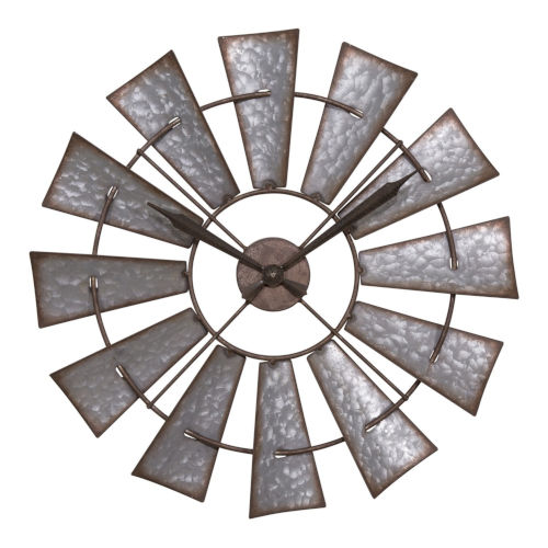 Rust Windmill Analog Wall Clock
