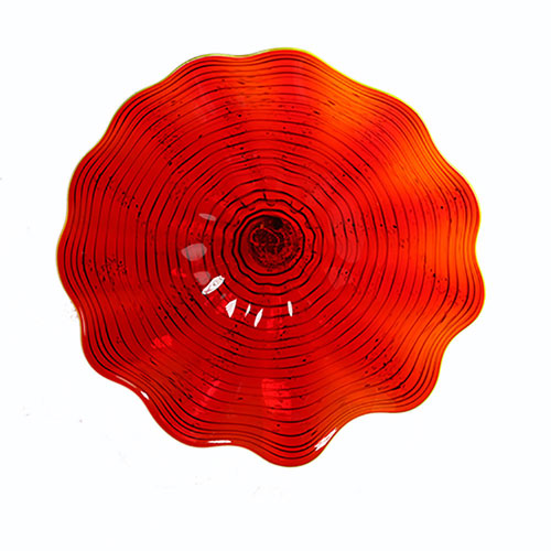 Red Wall Plate - Medium