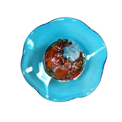 Jewel Aqua 12-Inch Wall Plate