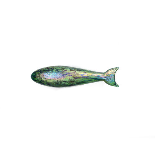 Pesce Sea Green 12-Inch Wall Art