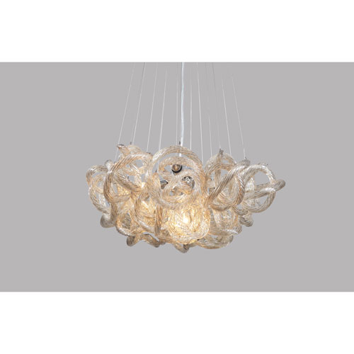 Infinity Chandelier with Champagne Glass in Chrome Finish - Small