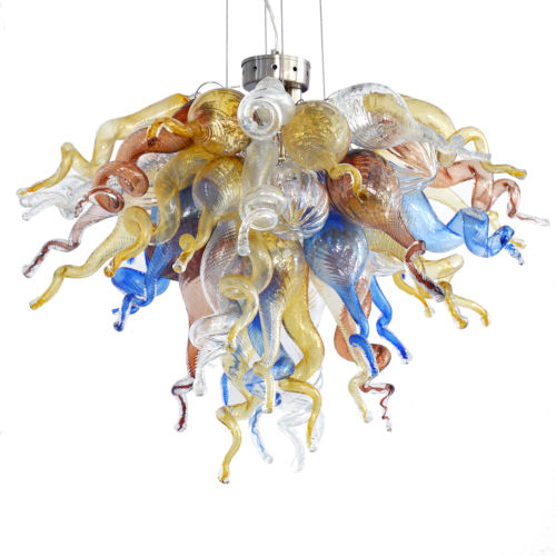 Mountain River Multicolor Three-Light LED Chandelier