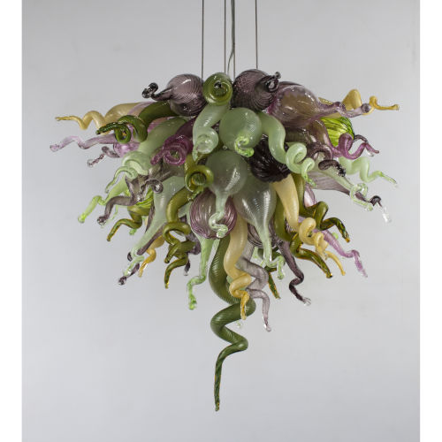 Spring Blossom Multicolor Three-Light LED Chandelier