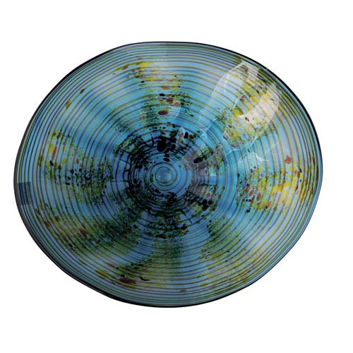Viz Art Glass Wall Plate - Medium