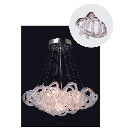 Infinity Chandelier with Clear Glass in Chrome Finish - Small