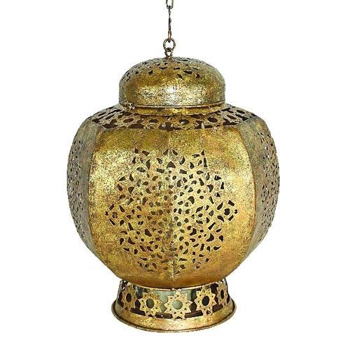 Round Moroccan Style Lantern