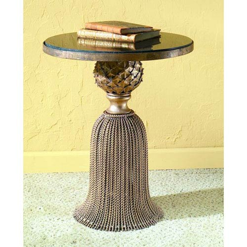 Antique Gold Tassel Table