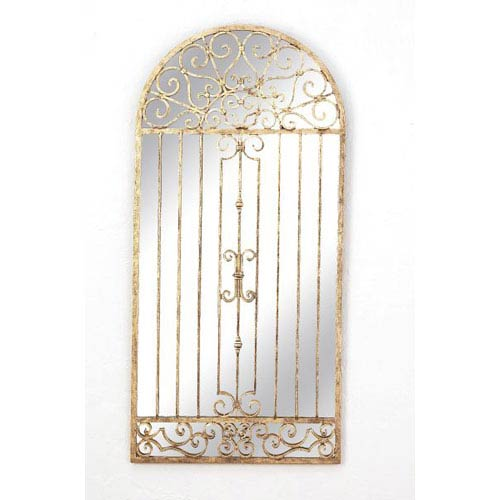 Antique Gold Garden Gate Mirror