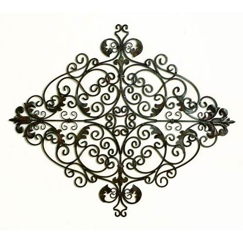 Iron and Tole Green Scroll Wall Grille