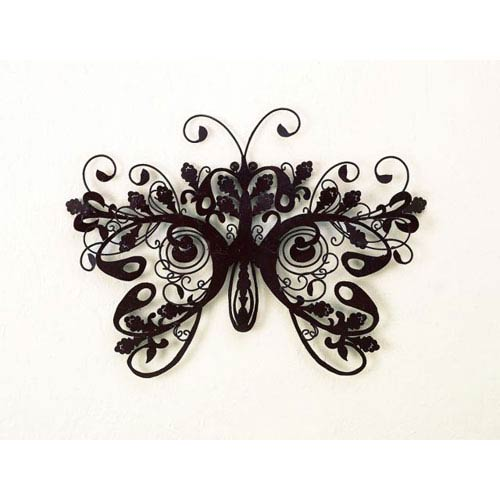 Brown Iron Butterfly Wall Decor