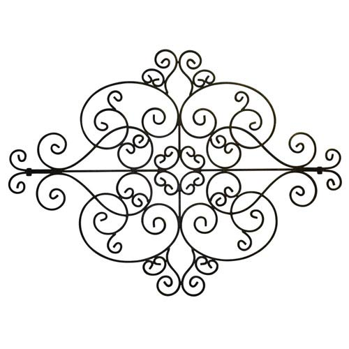 Brown Taupe Scroll Design Wall Decor