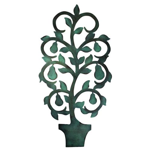 Dr. Livingstone I Presume Copper Verdigris Pear Tree Topiary Wall ...
