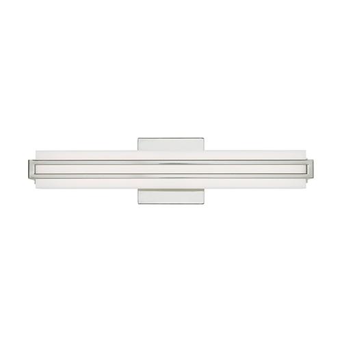 Livex Lighting Fulton Polished Chrome 4-Inch ADA Bath Vanity with Satin White Acrylic Shade