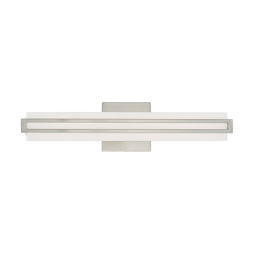 Livex Lighting Fulton Brushed Nickel 4-Inch ADA Bath Vanity with Satin White Acrylic Shade