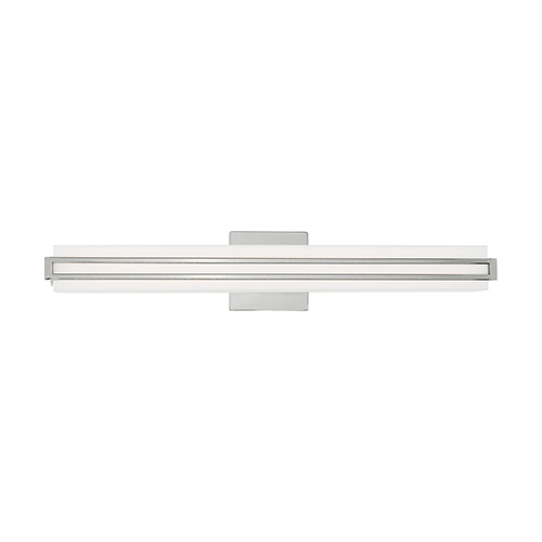 Livex Lighting Fulton Polished Chrome 4-Inch ADA Bath Vanity with Satin White Acrylic Shade